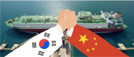 "China and South Korea shipbuilding industry ""summit battle""!"