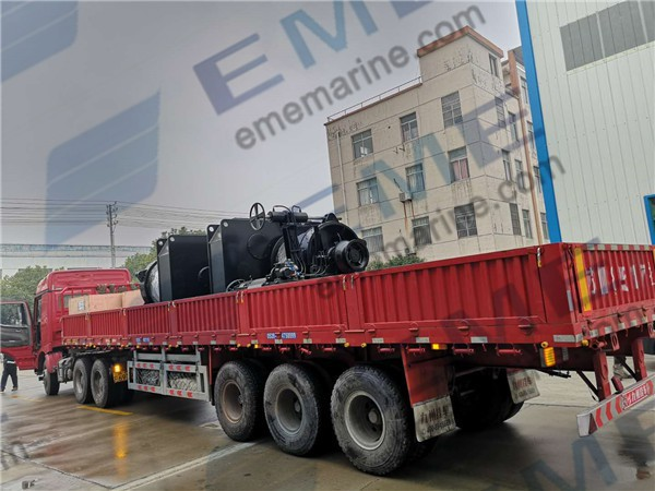 Two sets of 24T electric towing winch have been delivered to Myanmar.