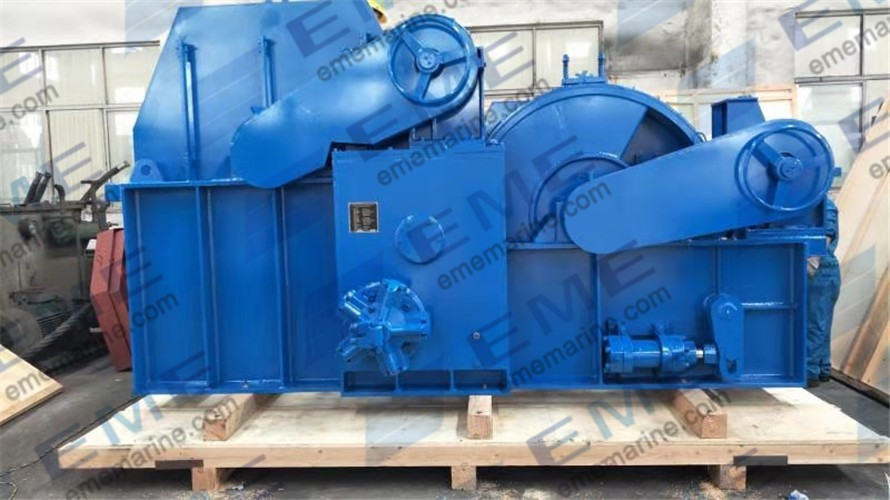 One set of 15T hydraulic double drum winch has been sent to Dubai.
