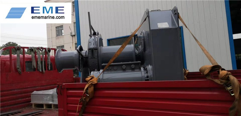 One set of 10T electric winch has delivered to Qidong.