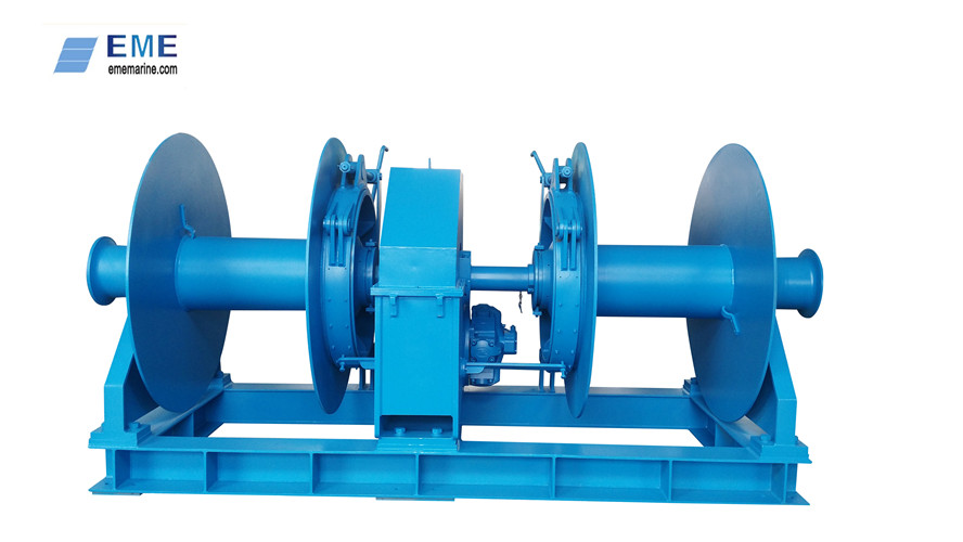 5T Hydraulic double drum mooring winch