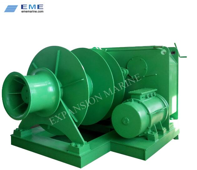 30T electric single drum mooring winch