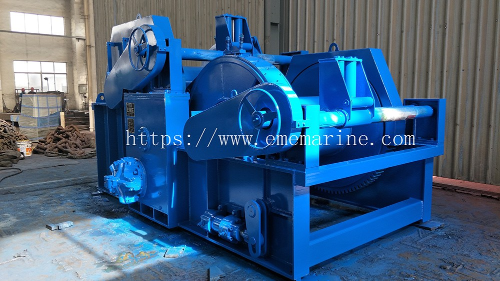 15T hydraulic towing winch holding load testing